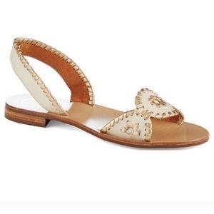 Jack Rogers Metallic Liliana Slingback Sandals